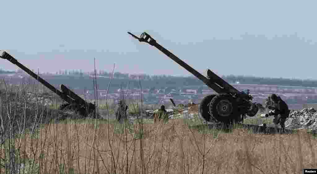 Гармати українських військових поблизу Дебальцевого