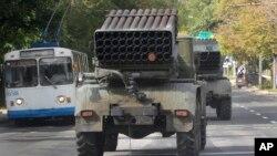 Pasukan pemberontak pro-Rusia di Donetsk, Ukraina timur (foto: dok).