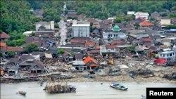Tsunami arrasa ilha na Indonésia