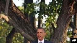美国总统奥巴马11月13日在APEC峰会结束时举行的记者会上讲话