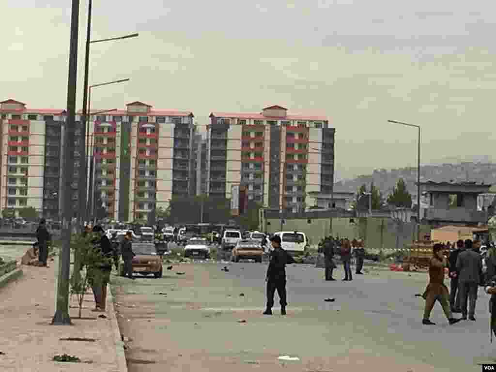 کابل کے جس علاقے میں یہ حملہ ہوا وہ افغان صدر کی رہائش گاہ سے کچھ ہی فاصلے پر ہے۔