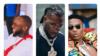 Davido, (hagu) Burna Boy (tsakiya) Wizkid (dama) (Hoto: Shafukansu na Instagram)