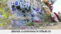 VOA60 Africa- Ivory Coast: President Alassane Ouattara attends a ceremony in tribute to the victims of Al Qaeda attack.