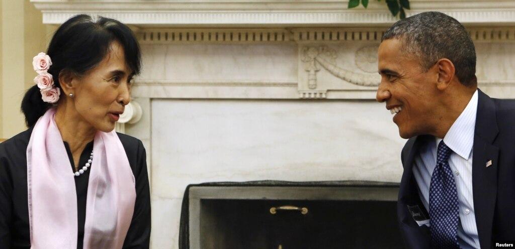 obama meet aung san suu kyi speech