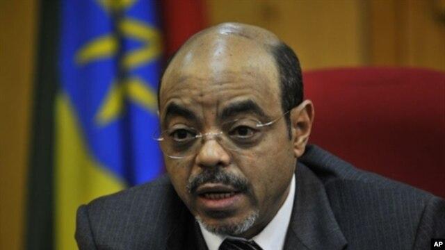Ethiopian Prime Minister Meles Zenawi (file photo)