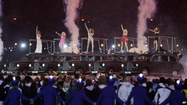 Salah satu acara pada penutupan Olimpiade London 2012 hari Minggu (12/8).