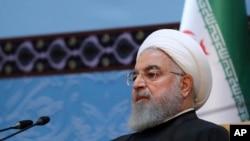 លោកប្រធានាធិបតីអ៊ីរ៉ង់ Hassan Rouhani ចូលរួមសន្និសីទ Islamic Unity ប្រចាំឆ្នាំនៅក្នុងក្រុងតេហេរ៉ង់ ប្រទេសអ៊ីរ៉ង់ កាលពីថ្ងៃទី២៤ ខែវិច្ឆិកា ឆ្នាំ២០១៨។