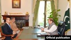 بھارت میں تعینات پاکستانی ہائی کمشنر عبدالباسط کی وزیراعظم نواز شریف سے ملاقات