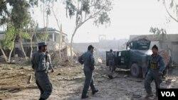 صحنۀ حمله انتحاری در لوگر