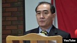 최근 한국으로 망명한 태영호 영국주재 북한공사가 지난해 11월 런던에서 열린 영국공산당 주최 행사에서 연설하고 있다. 유튜브 화면 캡처. (자료사진)