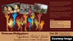 Quảng cáo Gala từ thiện giúp nạn nhân bão Haiyan ở Việt Nam và Philippines