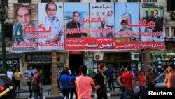 La capitale Egyptienne parée aux effigies du président frais émoulu des urnes.(photos de campagne-archives)