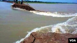 Haor area under water in Bangladesh