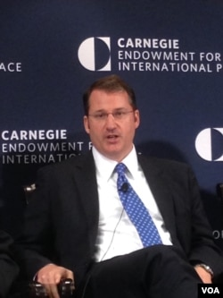 卡内基-清华全球政策中心主任韩磊 (美国之音 钟辰芳拍摄)