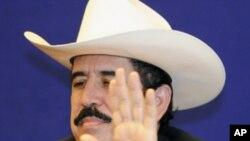 Deposed Honduran President Manuel Zelaya