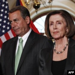Vakillar Palatasi spikeri, respublikachi Jon Beyner va demokratlar yetakchisi Nensi Pelosi