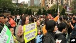 香港民眾反對大陸私家車來港自駕遊