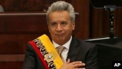 Lenin Moreno asumió como presidente de Ecuador el miércoles, 24 de mayo de 2017.