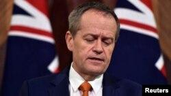 Lãnh đạo Đảng Lao động Úc Bill Shorten phát biểu trong một cuộc họp báo ở Melbourne, Úc, ngày 10 tháng 7 năm 2016.