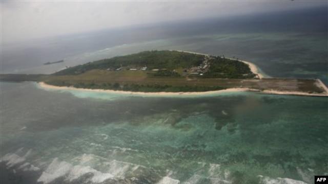 Đảo Pagasa, một phần của nhóm đảo Trường Sa đang tranh chấp, nằm ở ngoài khơi bờ biển phía tây Philippines