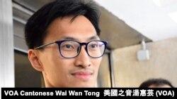 香港立法會議員朱凱迪 (攝影:美國之音湯惠芸)