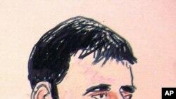 Un dibujo que muestra al acusado Adis Medunjanin en una corte federal en Nueva York.