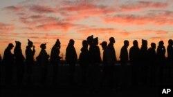 Des mineurs d'Anglo American dans la mine de platine de Marikana, Afrique du Sud, 25 juin 2014.
