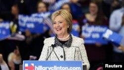 希拉里·克林顿(Hillary Diane Rodham Clinton)民主党总统参选人。
