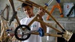 필리핀 대나무 자전거 '뱀바이크'