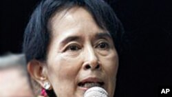 緬甸反對派領袖昂山素姬(資料圖片)
