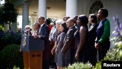 Le président Obama s'expirmant à la Maison-Blanche, mardi