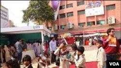کراچی: چلڈرن فیسٹیول میں کراچی کے مختلف علاقوں کے نجی و سرکاری اسکولوں کے بچوں نے بھی شرکت کی