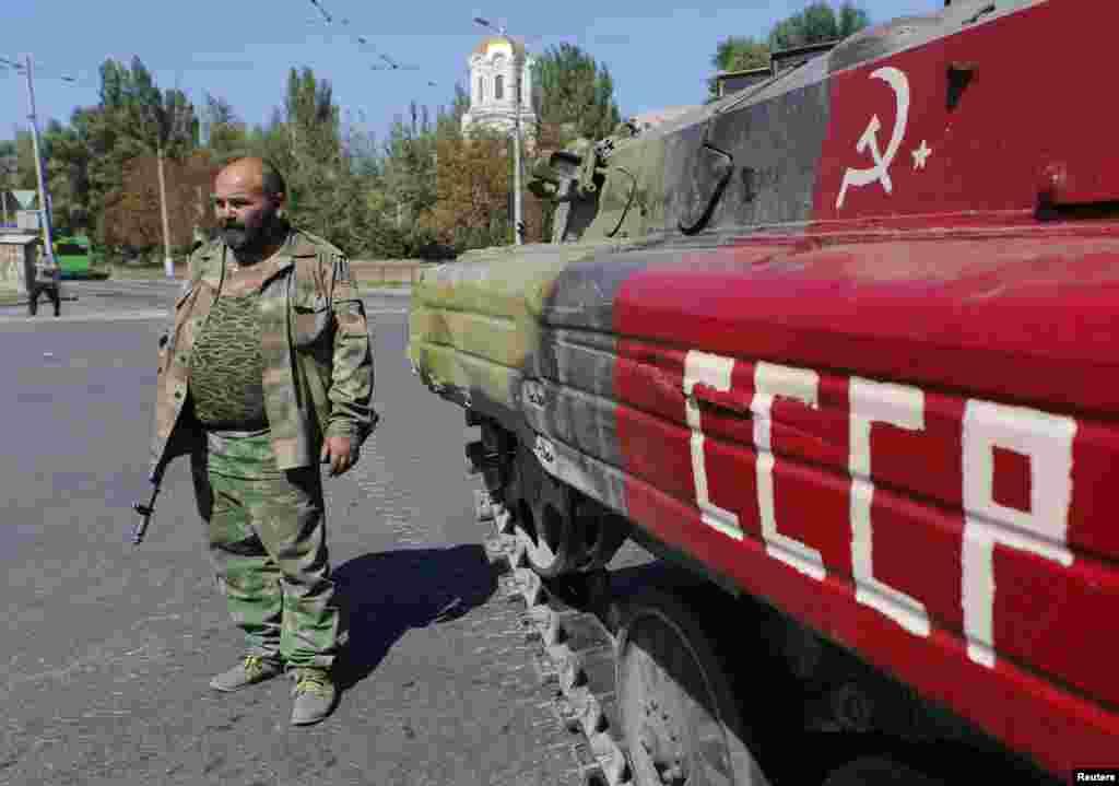 Сепаратисти у Донецьку.