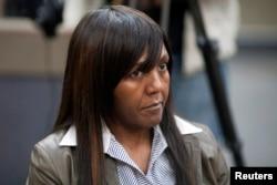 La petite fille de Nelson Mandela, Ndileka Mandela, lors d'un procès, en Afrique du sud, le 2 juillet 2013.