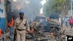 소말리아 모가디슈의 한 호텔에서 28일 차량을 이용한 자살폭탄 테러가 발생했다