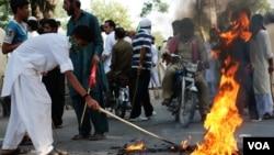 متنازعہ فلم کے خلاف مظاہرہ