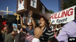 Акция протеста коптских христиан в Египте