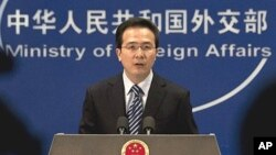 중국 외교부 홍레이 대변인 (자료사진).