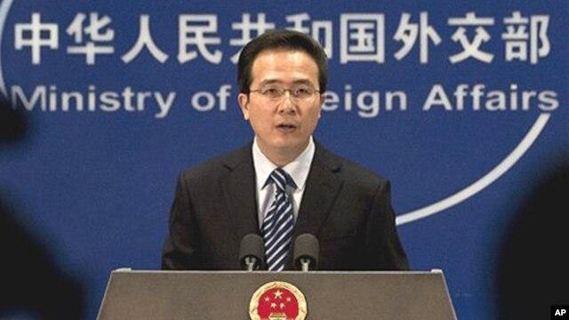 홍레이 중국 외교부 대변인. (자료사진).