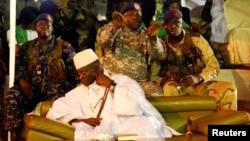Le président Yahya Jammeh lors d'une réunion à Banjul, Gambie, le 29 novembre 2016.