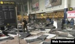 Brüssel aeroportunda partlayış
