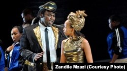 Zandile Mzazi on stage during a recent performance in South Africa.