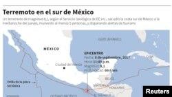 Áreas afectadas pelo terremoto
