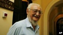 Ramón Castro en una de sus últimas visitas a La Habana en la que conversó con algunos periodistas