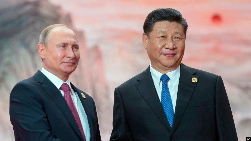 俄羅斯總統普京與中國國家主席習近平(資料照片)