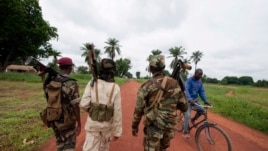 Seleka rebels, seen here July 15, 2013, in the town of Bria, Central African Republic.
