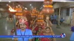 برگزاری جشنواره سالانه «ناوراتری» در ستایش الهه باروری برگزار شد