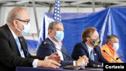 En el evento estuvieron presentes el ministro de Salud, Luis Sucre; el director de la Caja de Seguro Social, Enrique Lau; y el director del Sistema Nacional de Protección Civil, Carlos Rumbo. [Foto: Cortesía de la embajada de EE.UU. en Panamá].