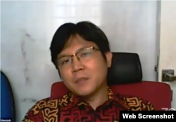 Pakar hukum dan politik Universitas Mulawarman, Herdiansyah Hamzah. (Foto: screenshot)
