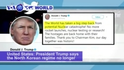 VOA60 World PM - Trump: No More Nuclear Threat from North Korea
